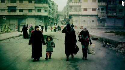 Civilians in Syria face fight for supplies