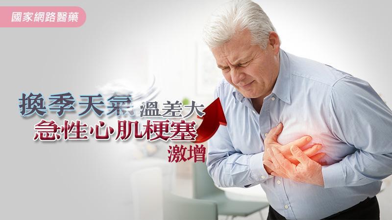 換季天氣溫差大,急性心肌梗塞激增
