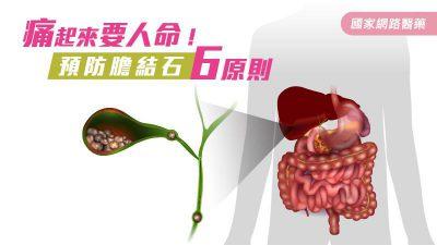 痛起來要人命!預防膽結石6原則