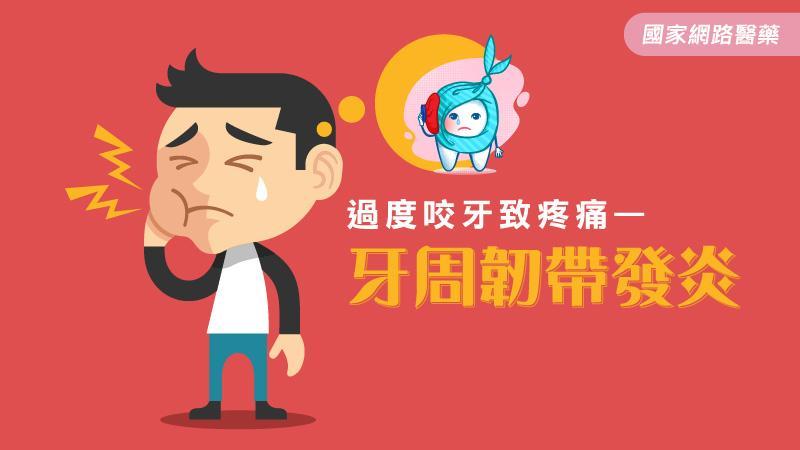 過度咬牙致疼痛—牙周韌帶發炎