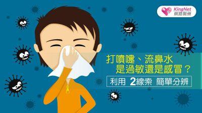 打噴嚏、流鼻水是過敏還是感冒? 教你用2線索簡單分辨