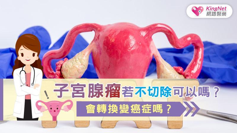 子宮腺瘤若不切除可以嗎?會轉換變癌症嗎?