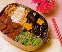 海帶結燒肉盒餐