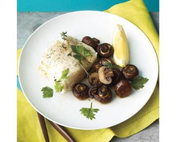 烤蘑菇鮮魚