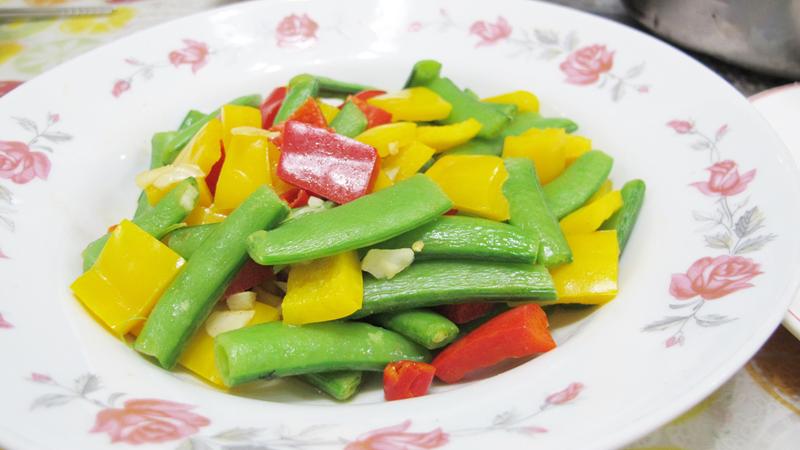 減脂食譜:彩椒炒甜豆