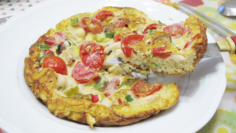 減脂食譜:鮮菇番茄烘蛋