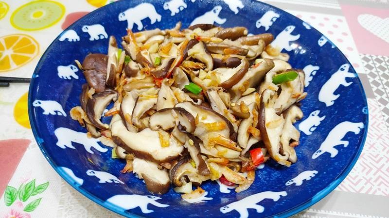 減脂食譜:香菇炒蝦米