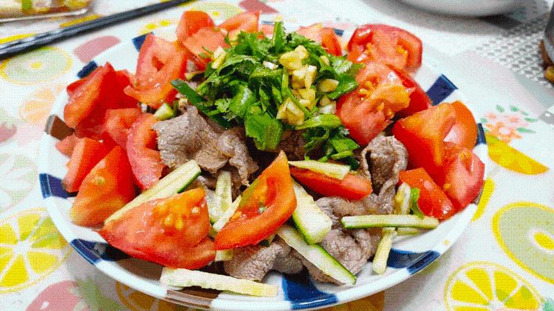 減脂食譜:番茄牛肉溫沙拉