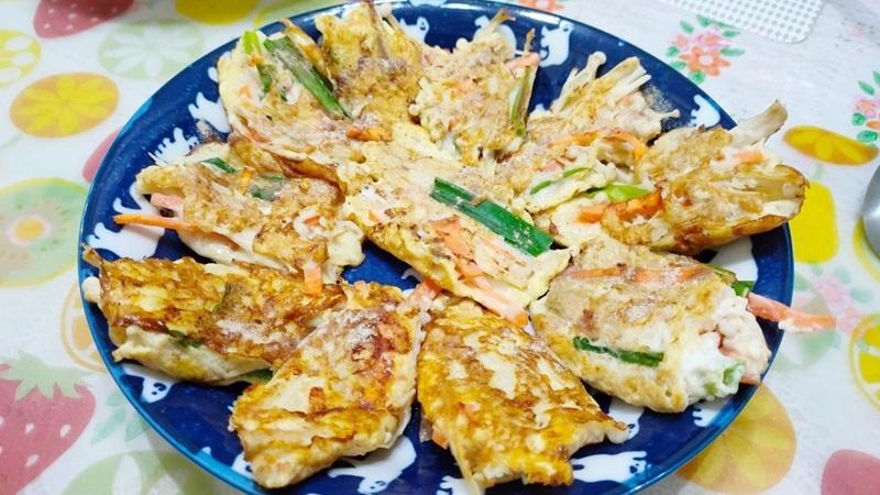 減脂食譜:金針菇紅蘿蔔煎餅