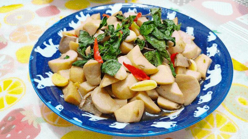 減脂食譜:醬燒塔香杏鮑菇