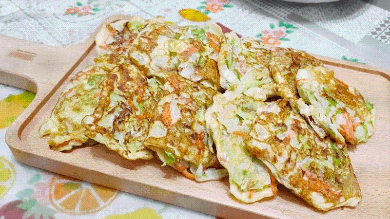 減脂食譜:高麗菜絲蛋煎餅