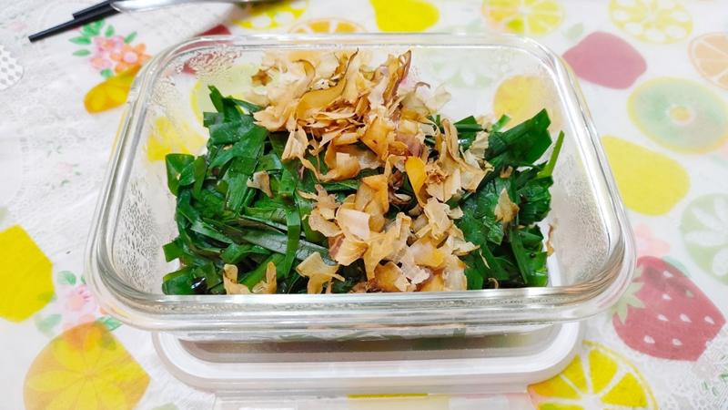 減脂食譜:柴魚涼拌韭菜