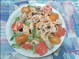 火鍋餃沙拉