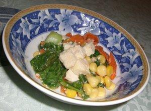 凍豆腐炒三蔬