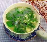 山芹紫菜湯