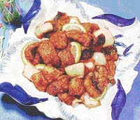 茄汁鱒魚片